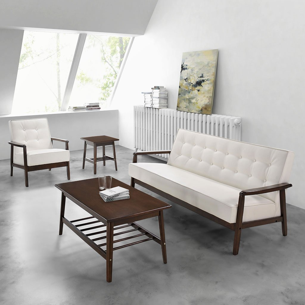Aventura living room set white zuo modern furniture cart - Modern white living room furniture ...