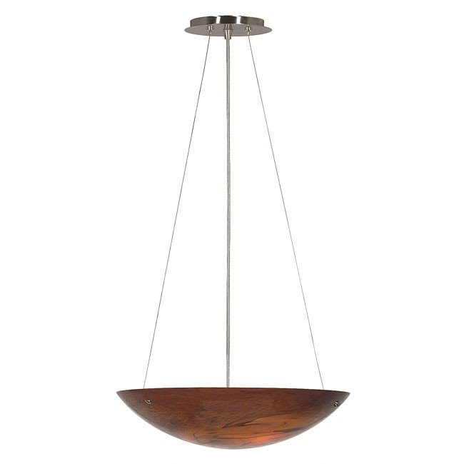 Monza Amber 3 Light Pendant (Brushed Steel)