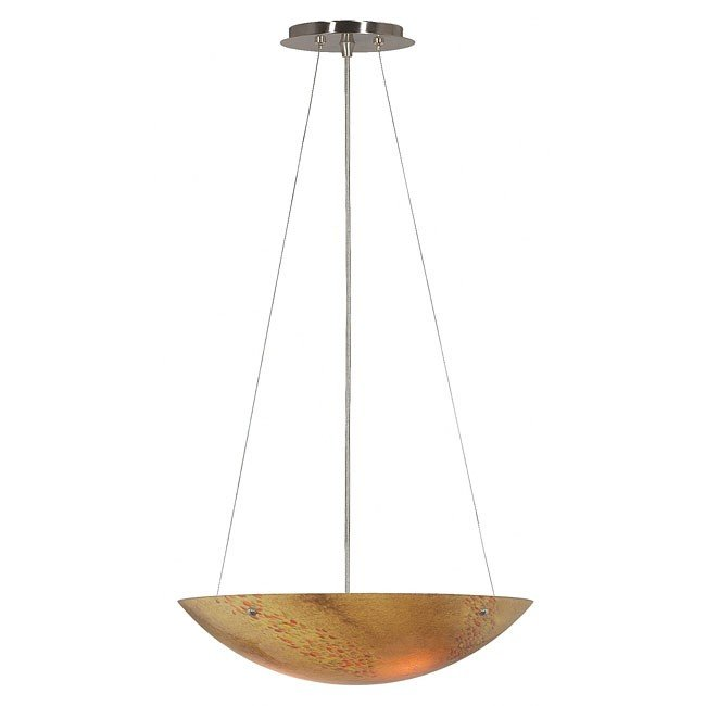 Monza  Pearl 3 Light Pendant (Brushed Steel)