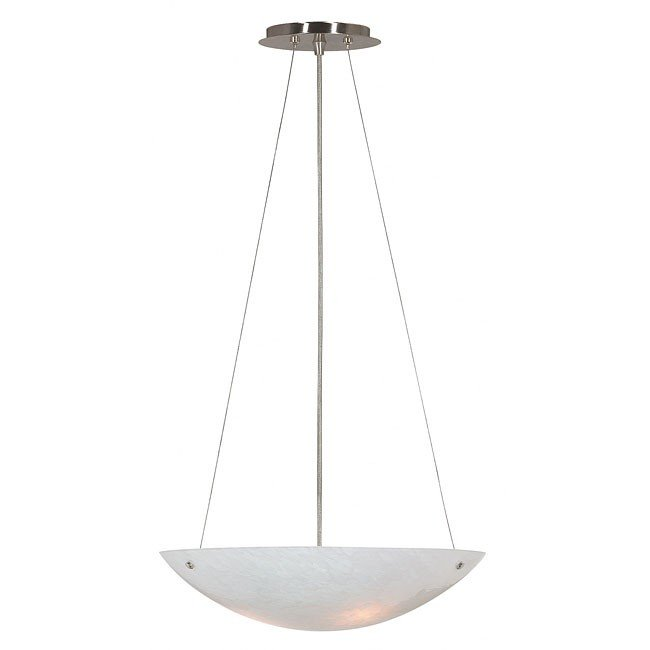Monza White 3 Light Pendant (Brushed Steel)