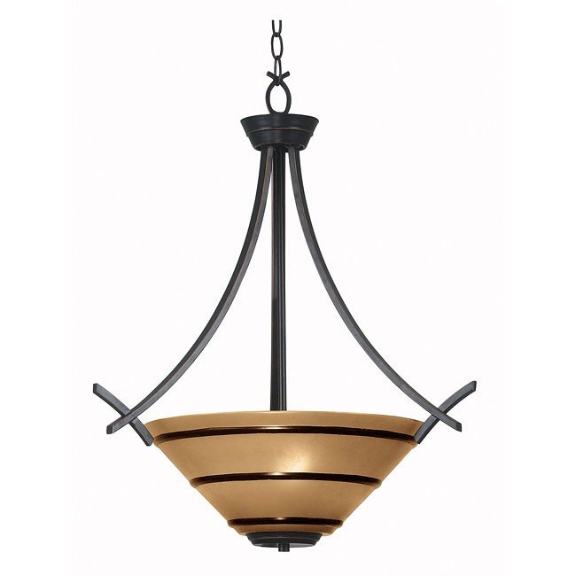 Wright 3 Light Pendant (Bronze)