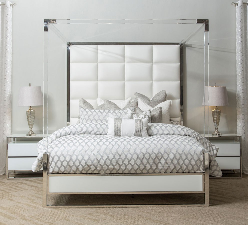 State St Metal Canopy Bedroom Set