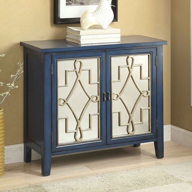Kacia Console Table (Antique Dark Blue)