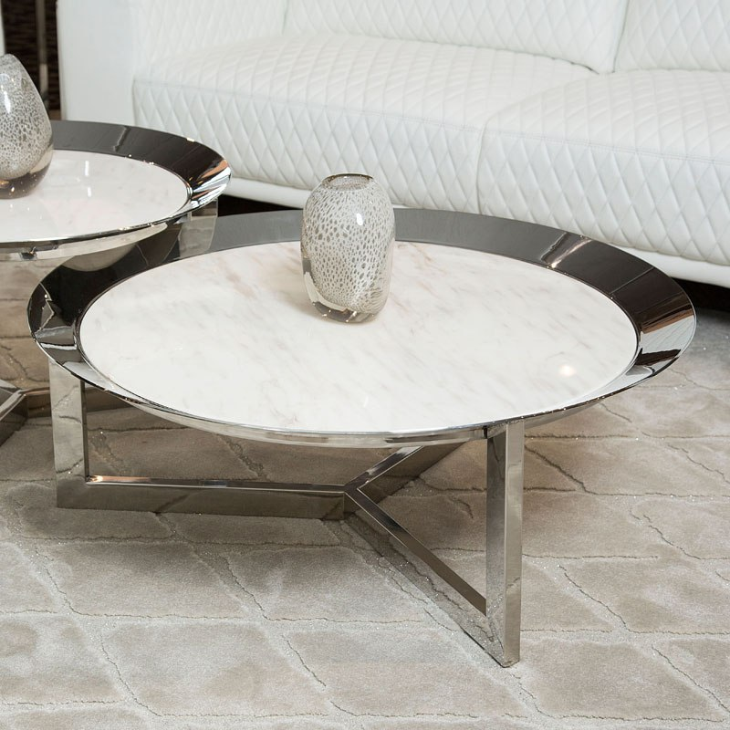 38 Inch Round Table.Halo Round 38 Inch Cocktail Table