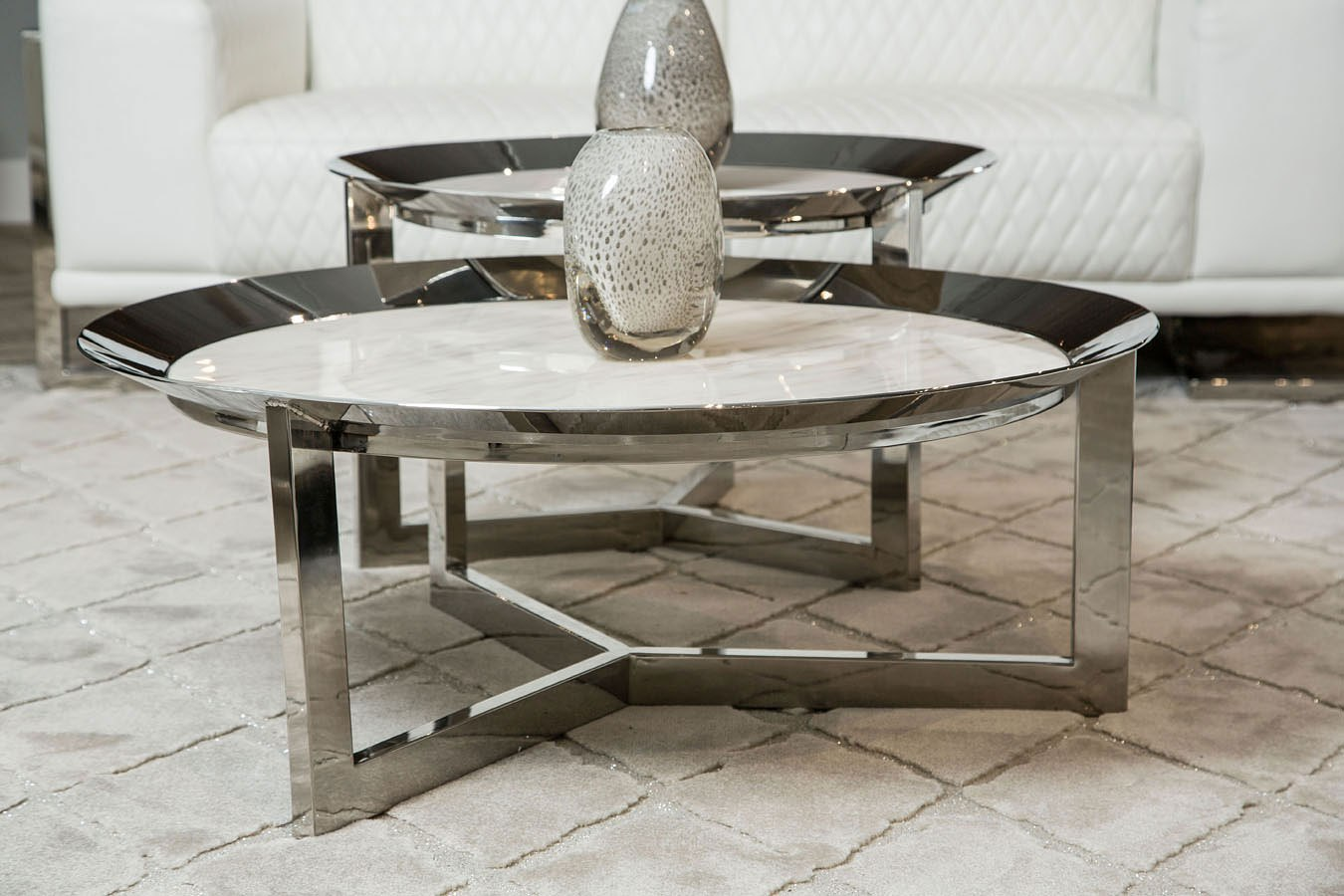 38 Inch Round Table.Halo Round 38 Inch Occasional Table Set