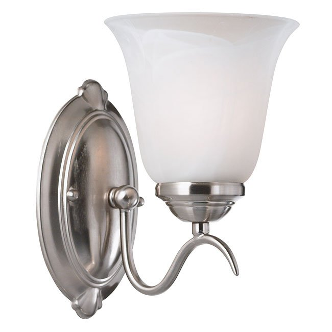 Medusa 1 Light Sconce (Brushed Steel)