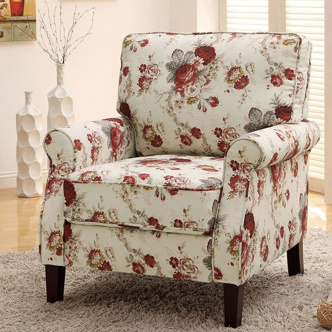 Floral Pattern Accent Chair