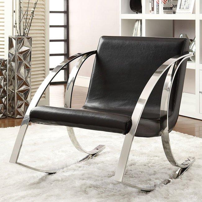 Black Modern Rocking Chair