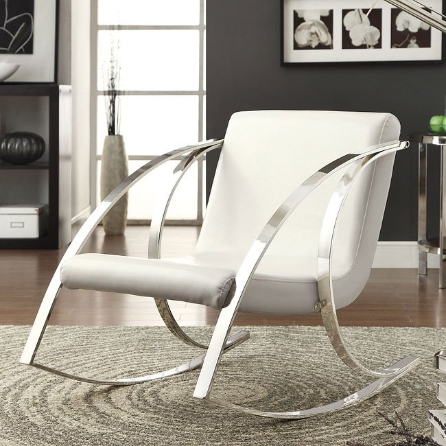 Pearlescent White Rocking Chair
