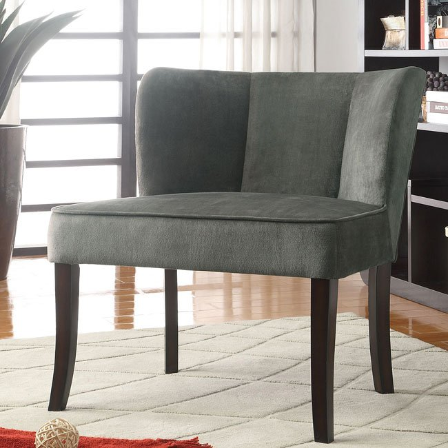 Charcoal Flared Back Accent Chair