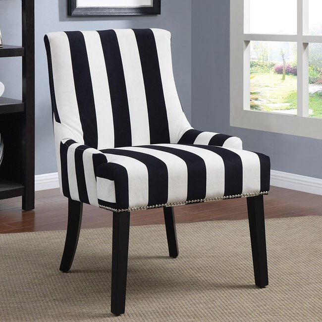 Stripe Pattern Accent Chair