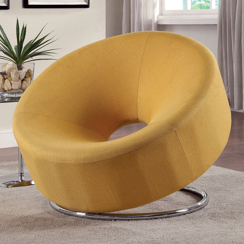 Donut Shaped Accent Chair (Yellow)