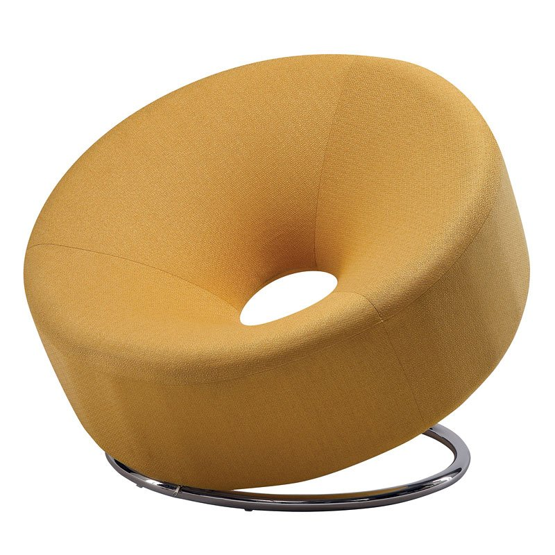 Etonnant Donut Shaped Accent Chair (Yellow)