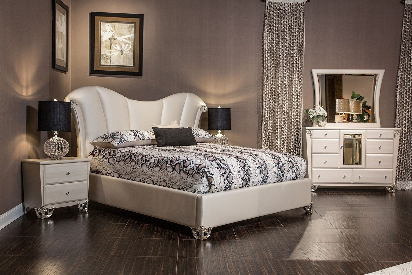 Sunset Terrace Upholstered Bedroom Set Aico Furniture
