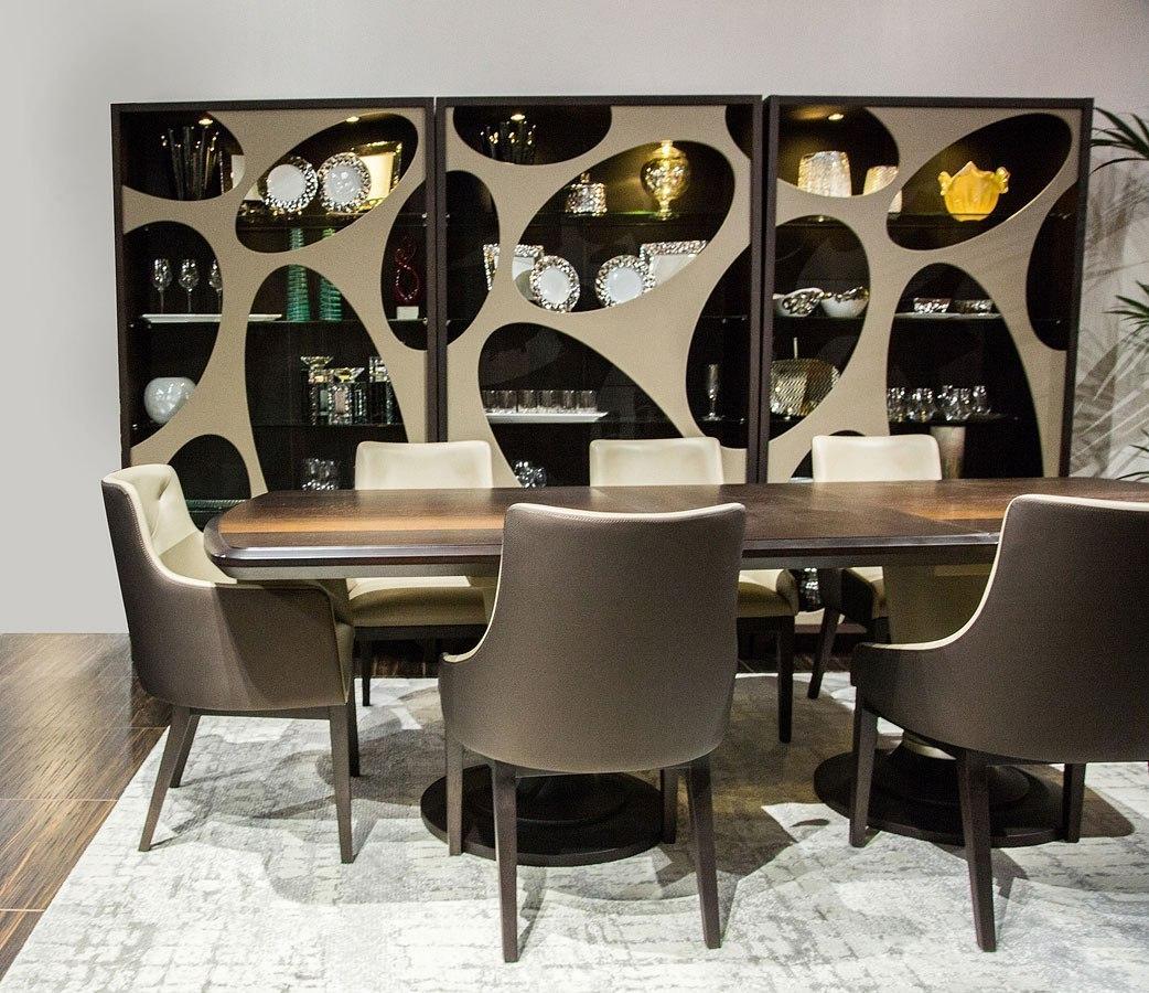 21 Cosmopolitan Rectangular Dining Room Set Taupe Aico Furniture Cart