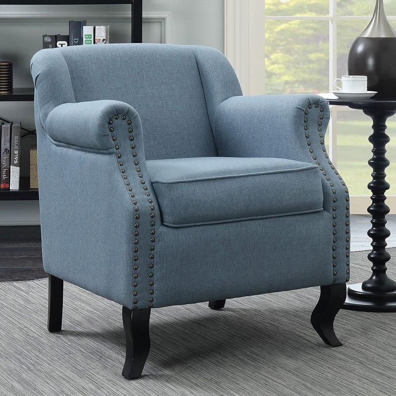 Ordinaire Light Blue Accent Chair