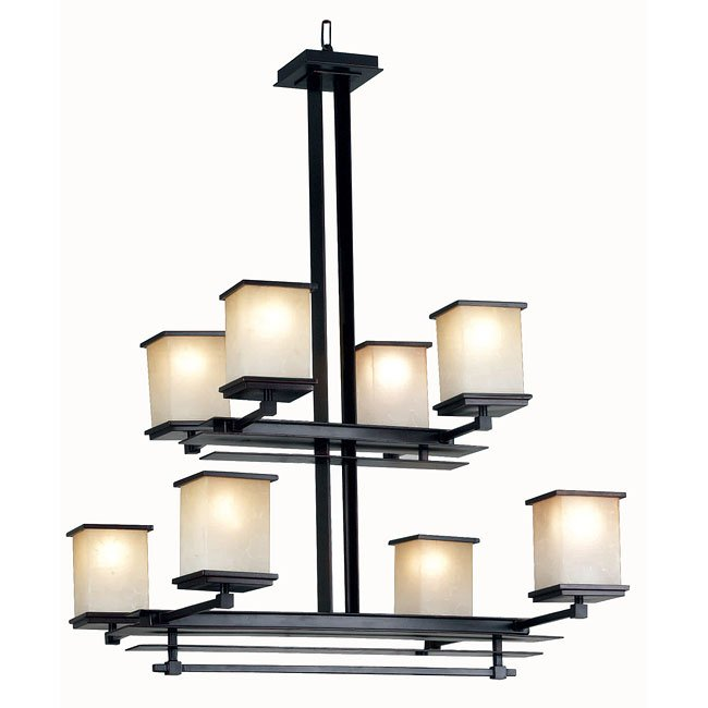 Plateau 8 Light Chandelier (Bronze)