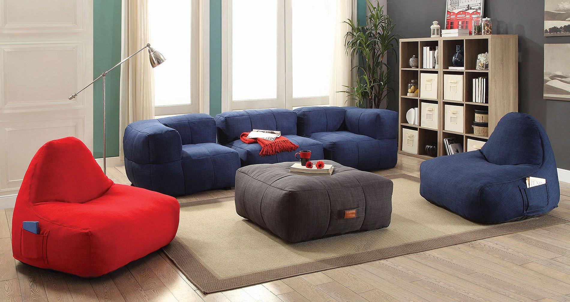 Lazy Life Bean Bags Living Room Set Coaster Furniture | Furniture Cart