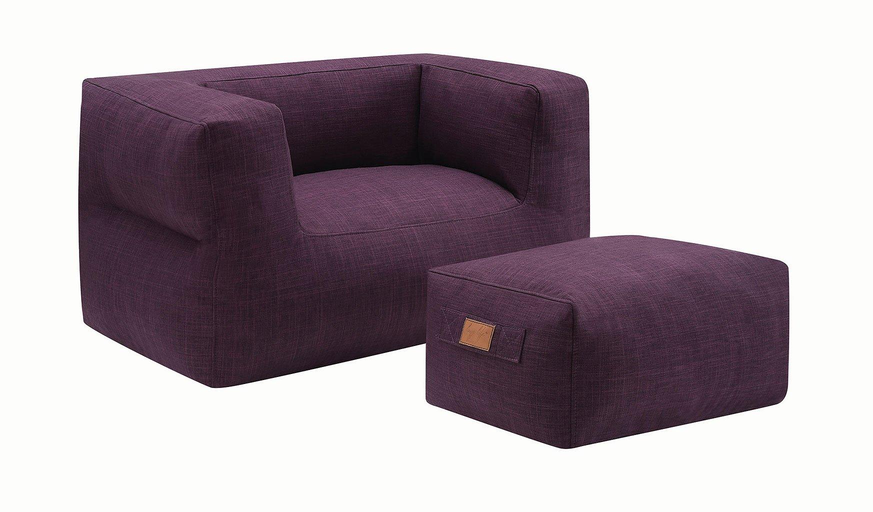 Lazy Life Chair W Ottoman Purple Coaster Furniture Furniture Cart