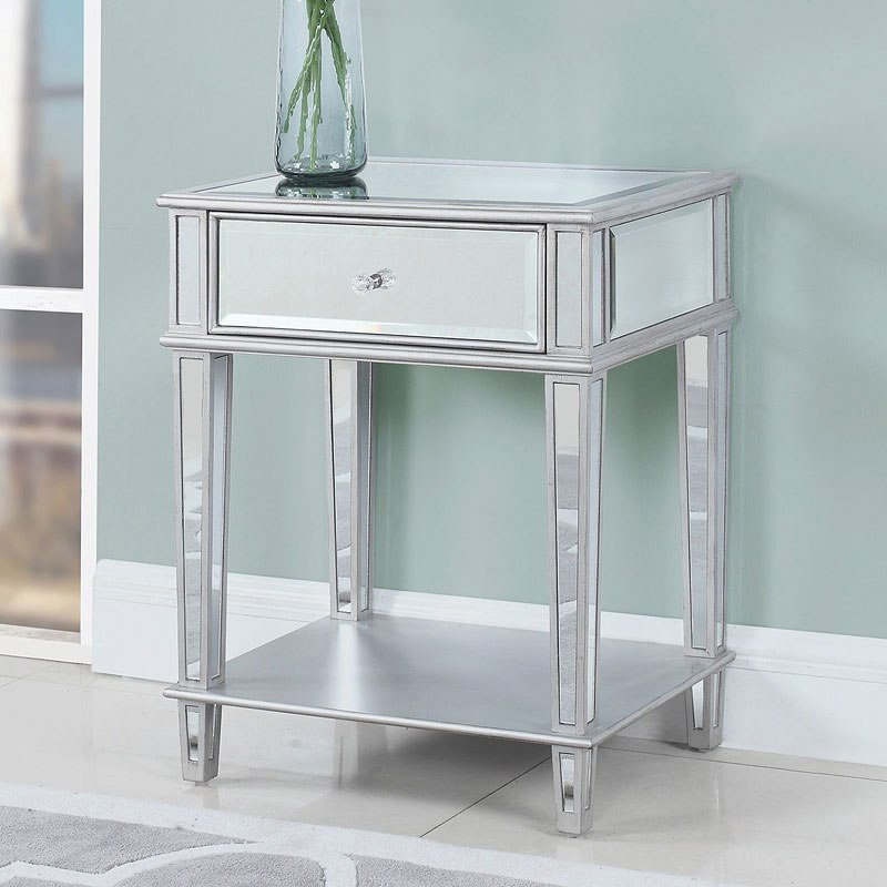 Clear Mirror Accent Table Coaster