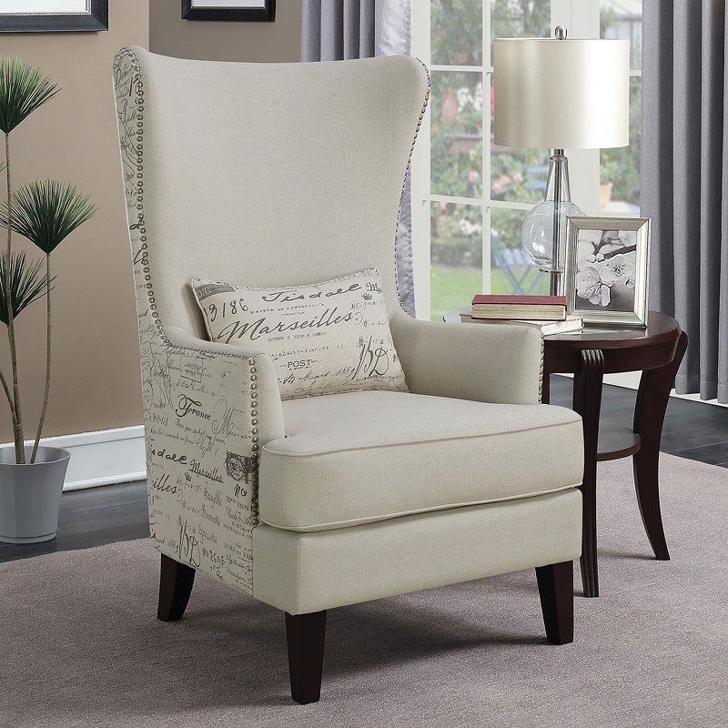 Modern French Script Accent Chair