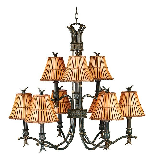Kwai  9 Light Chandelier (Bronze)