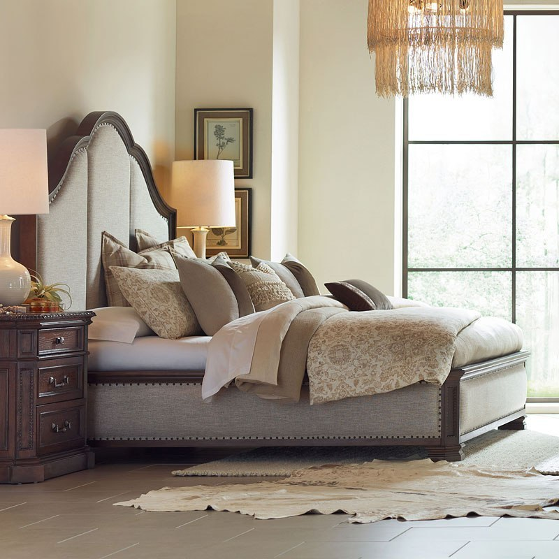 Refined Rustic Upholstered Bed on