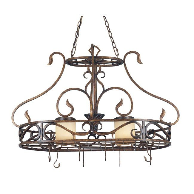 Verona 2 Light Pot Rack (Copper)