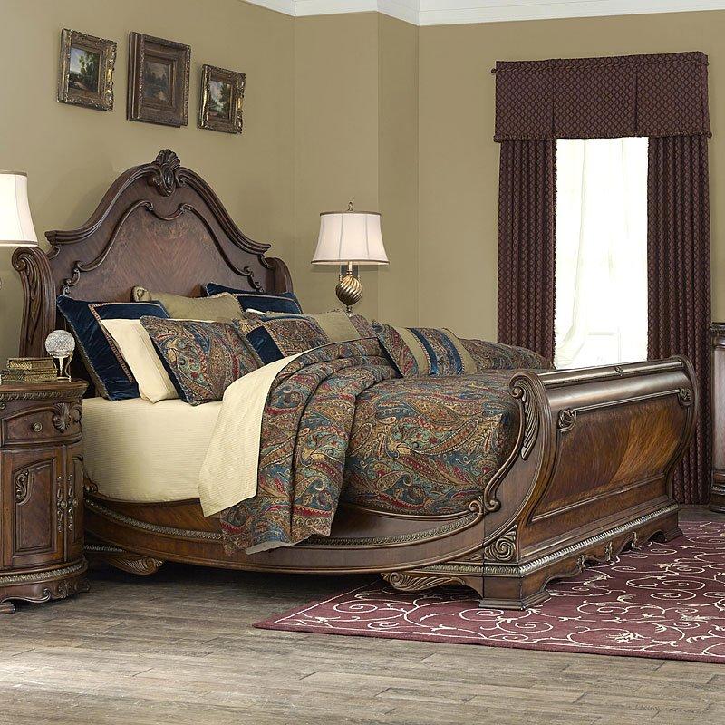 bella veneto sleigh bed aico furniture furniture cart rh furniturecart com