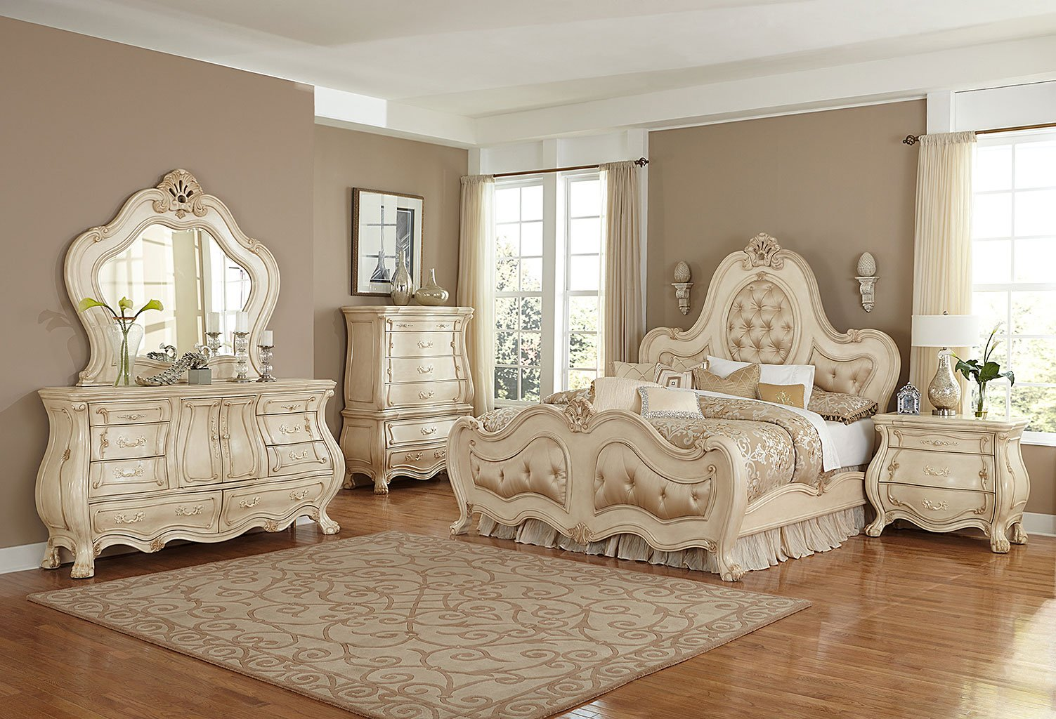 Chateau de Lago Panel Bedroom Set