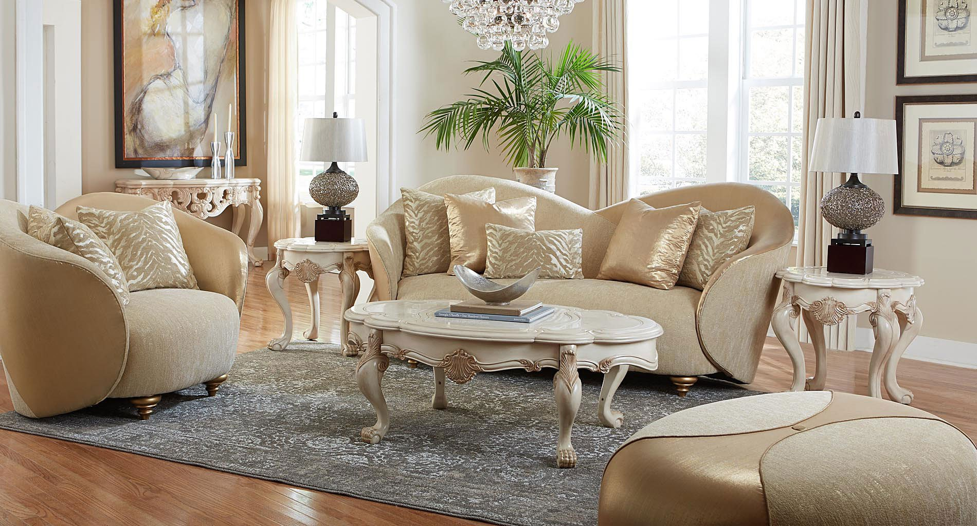 Chateau de lago occasional table set aico furniture for Lago furniture