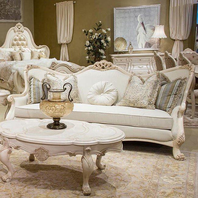 Chateau de lago wood trim living room set aico furniture for Lago living room