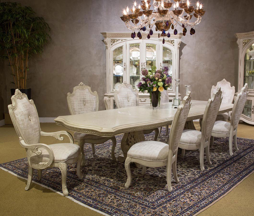 Aico Villagio Dining Room Set: Villa Di Como Dining Room Set (Moonlight) Aico Furniture