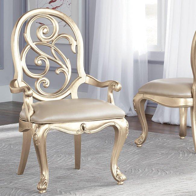 Jessica McClintock Silver Leaf Arm Chair (Set Of 2) American Drew |  Furniture Cart