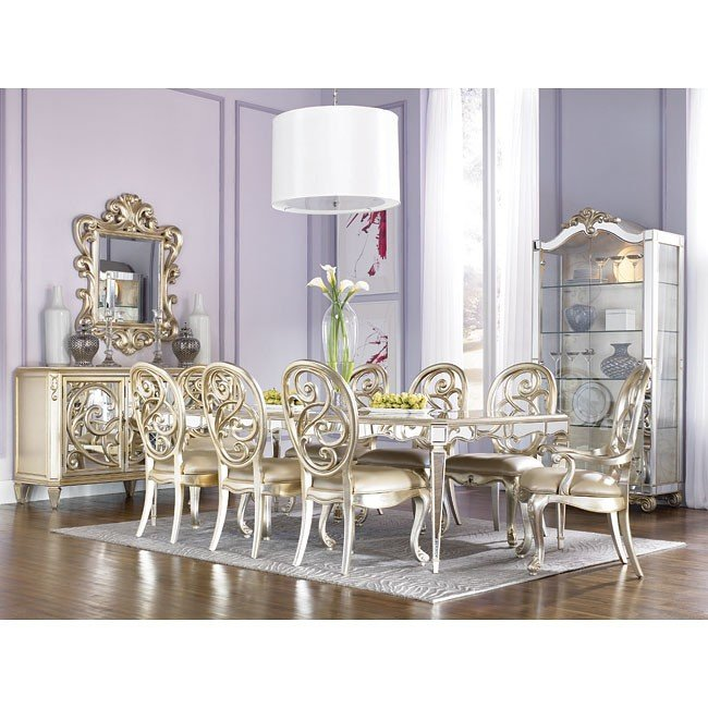 Jessica Mcclintock Dining Room Furniture: Jessica McClintock Antique Mirror Dining Room Set American