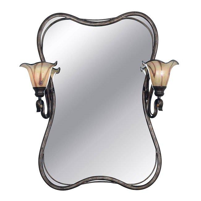 Inverness 2 Light Vanity Mirror (Silver)