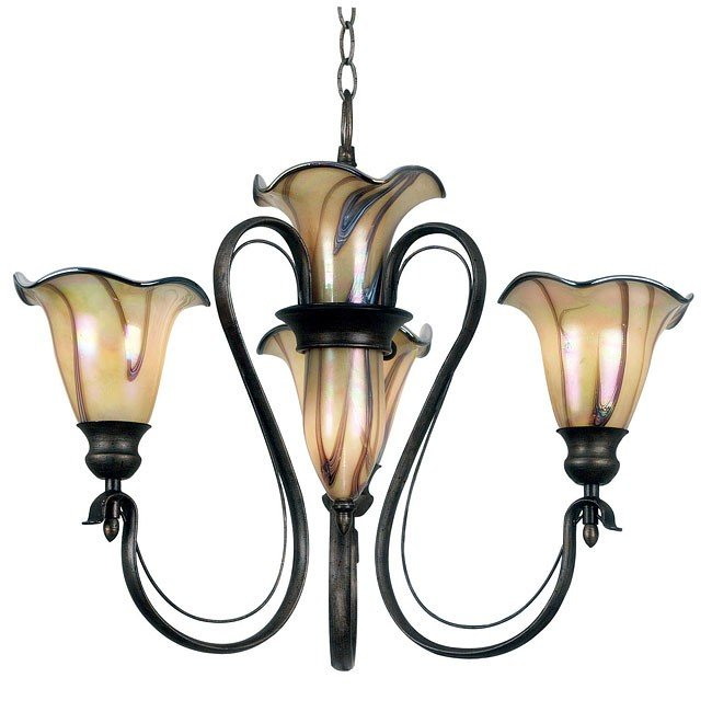 Inverness 3+2 Light Chandelier (Tuscan Silver)