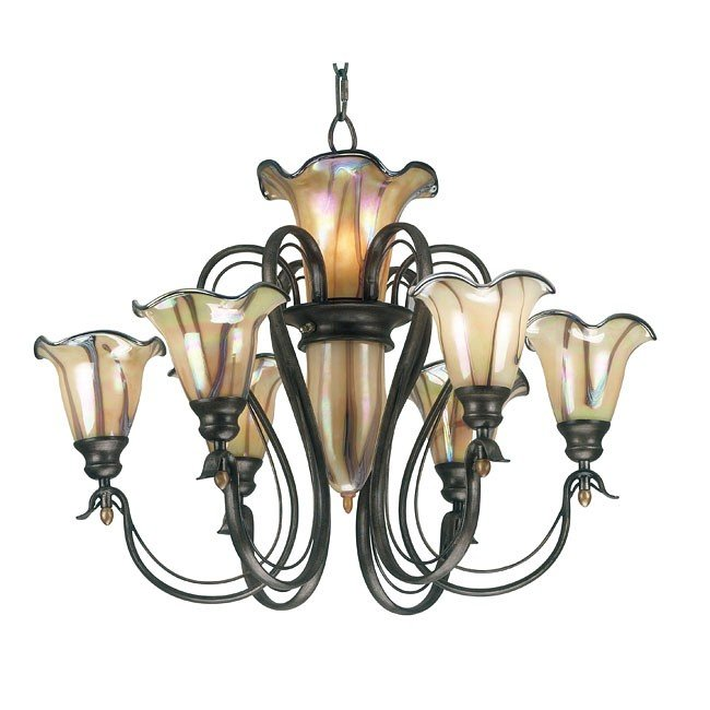 Inverness 6+3 Light Chandelier (Tuscan Silver)