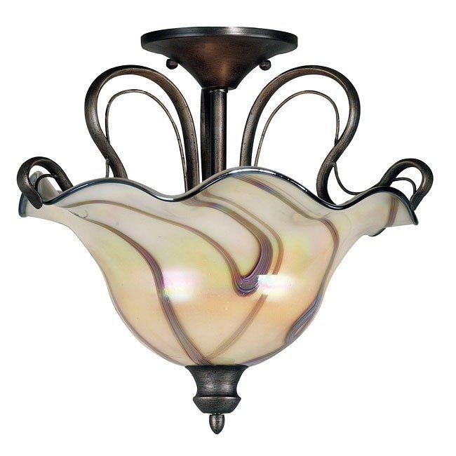 Inverness 2 Light Semi - Flush (Tuscan Silver)