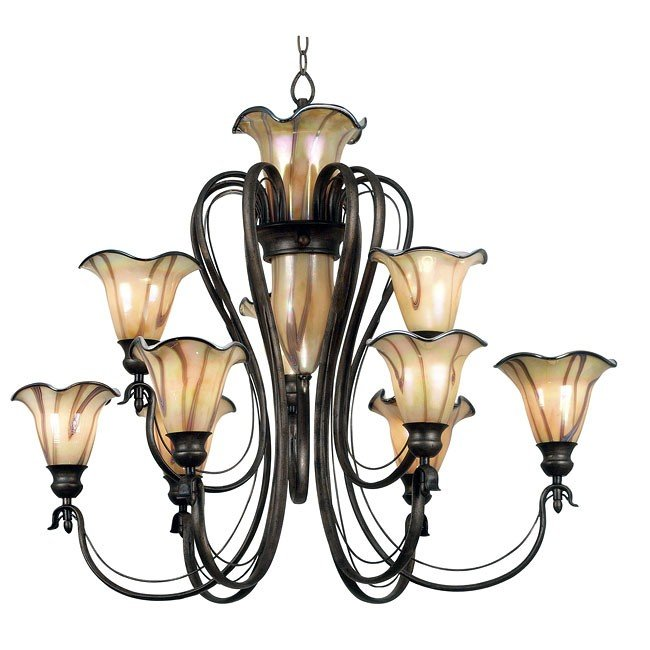 Inverness 12 Light Chandelier (Tuscan Silver)