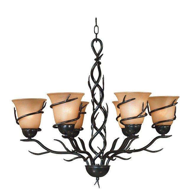 Twigs 6 Light Chandelier (Bronze)