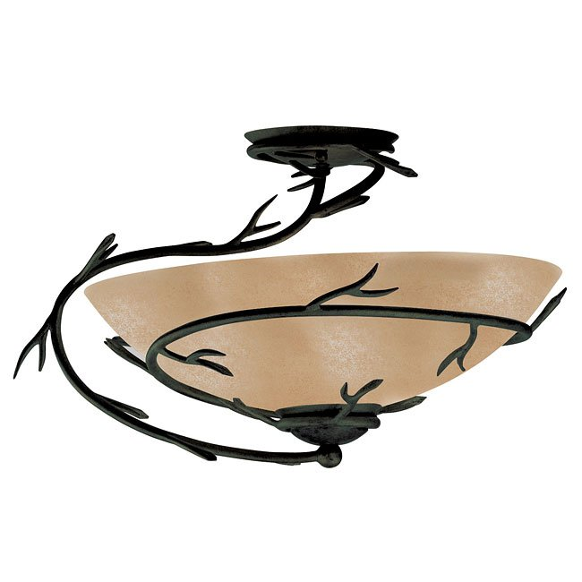 Twigs 1 Light Semi-Flush (Bronze)