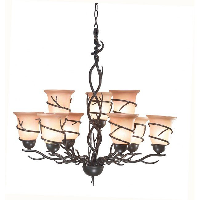 Twigs 9 Light Chandelier (Bronze)