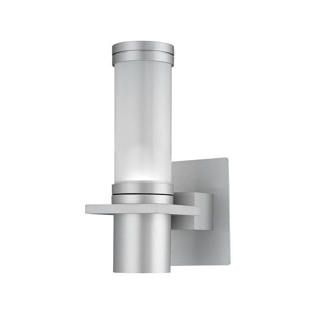 Cilindro 1 Light Outdoor Sconce (Silver)