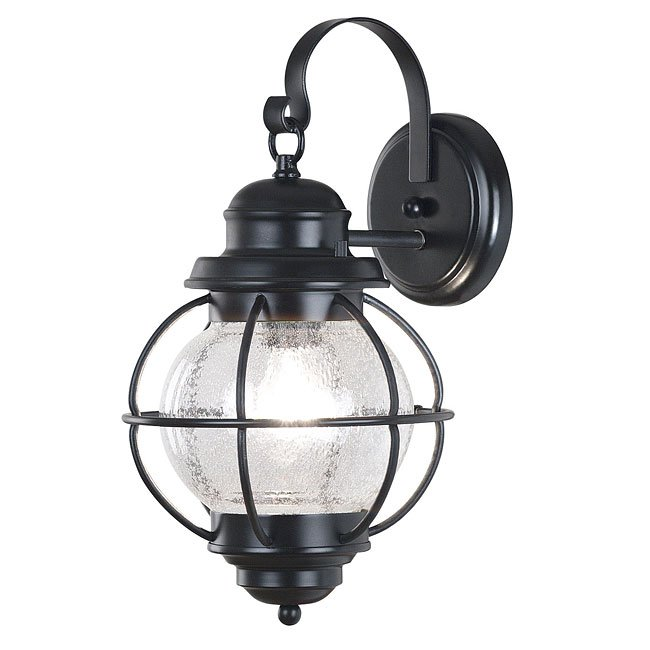 Hatteras Medium Wall Lantern (Black)