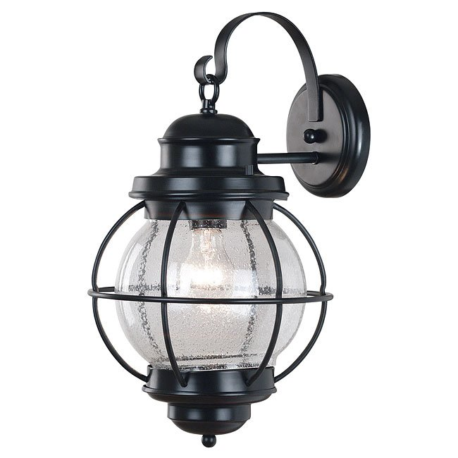 Hatteras Large Wall Lantern (Black)