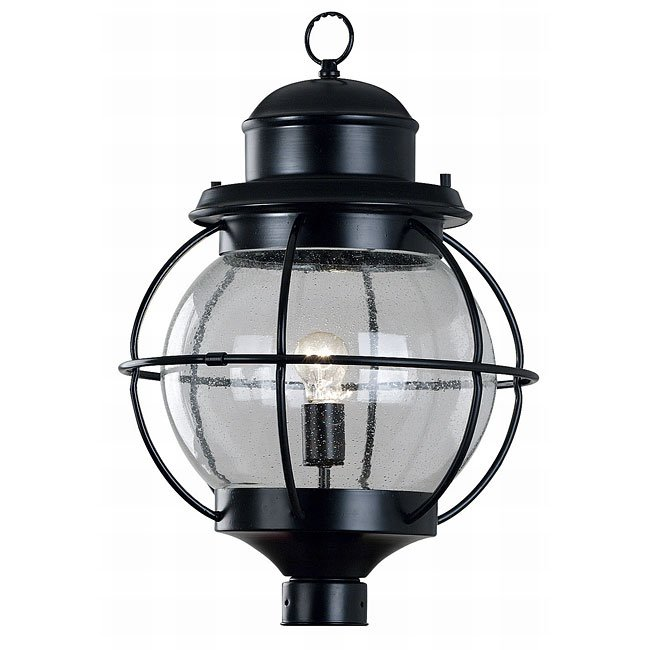 Hatteras 1 Light Post Lantern (Black)