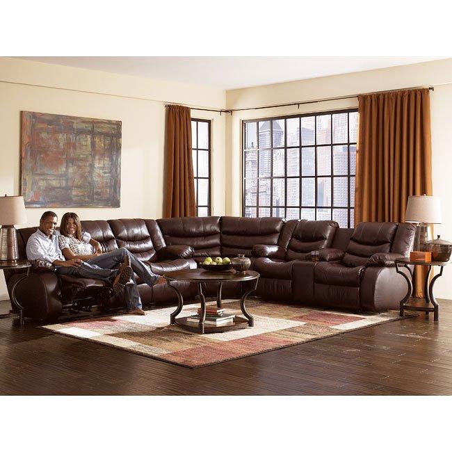 Revolution - Burgundy Reclining Sectional Living Room Set