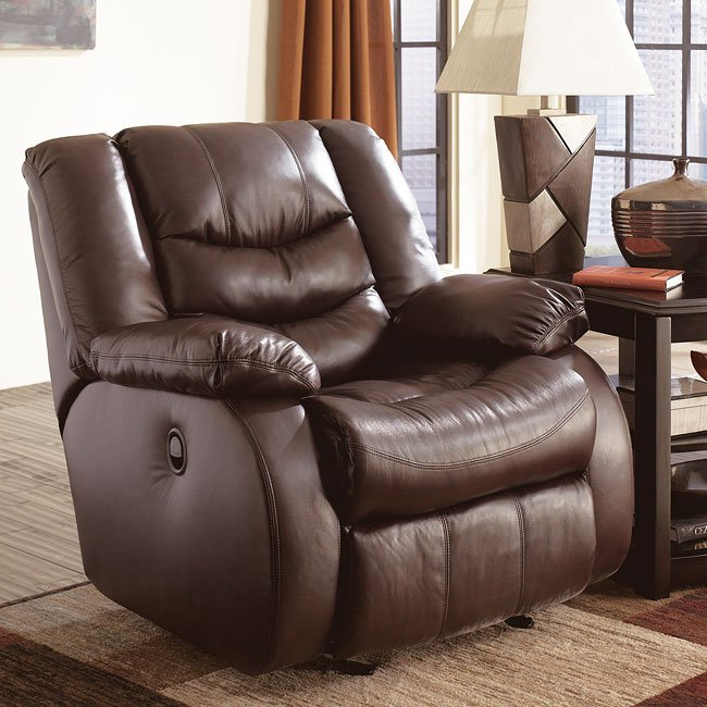 Revolution - Burgundy Glider Rocker Recliner