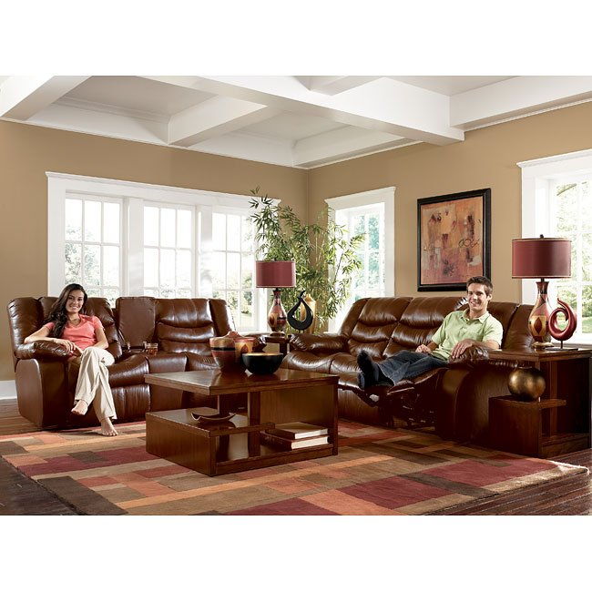 Revolution - Saddle Reclining Living Room Set